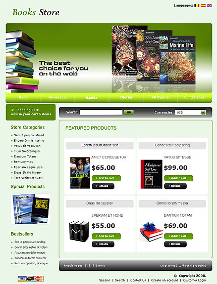 booksstore-template-oscommerce-gratuit