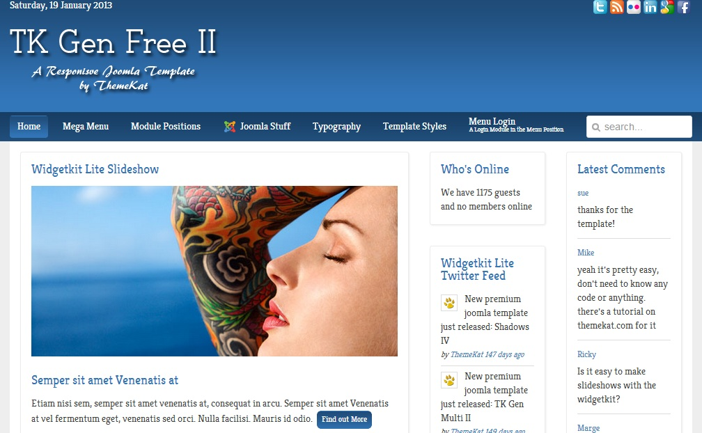 Tk general template joomla blog gratuit beauxthemes - Site d architecture gratuit ...